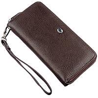 Вместительный женский клатч ST Leather 18930 Коричневый, Коричневый