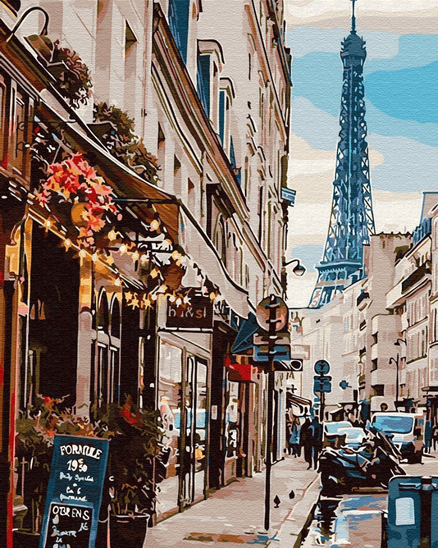Картина по номерам Париж из-за угла 30083 40*50