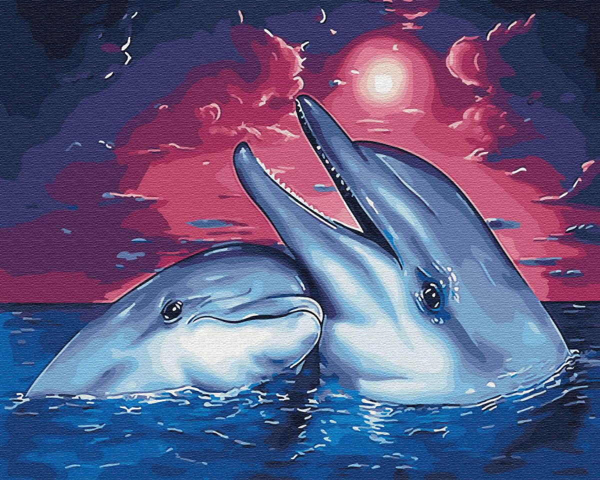 Картина по номерам Дельфины 29649 40*50