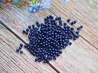 Бусины стеклокерамика, d 3 мм, (~240 шт), цвет синий