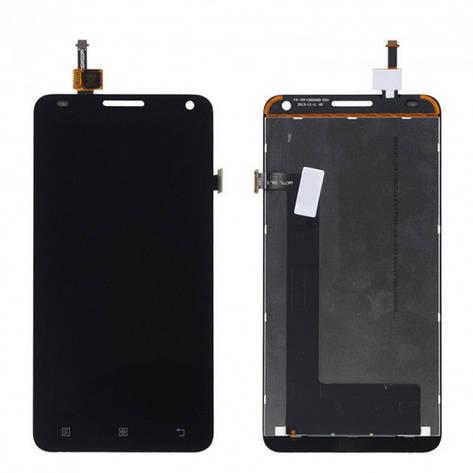 Дисплей (LCD) Lenovo S580 с сенсором чёрный, фото 2