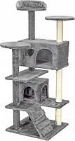 Когтеточка домик дряпка для кошек 130 см серая