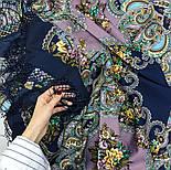 Майя 372-15, павлопосадский платок (шаль) из уплотненной шерсти с шелковой вязанной бахромой, фото 5