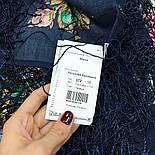 Майя 372-15, павлопосадский платок (шаль) из уплотненной шерсти с шелковой вязанной бахромой, фото 10