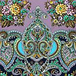Майя 372-15, павлопосадский платок (шаль) из уплотненной шерсти с шелковой вязанной бахромой, фото 9