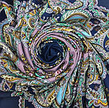 Майя 372-15, павлопосадский платок (шаль) из уплотненной шерсти с шелковой вязанной бахромой, фото 8