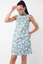 Короткое льняное платье без рукавов (Отти ri), фото 2