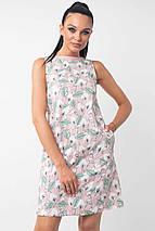 Короткое льняное платье без рукавов (Отти ri), фото 3
