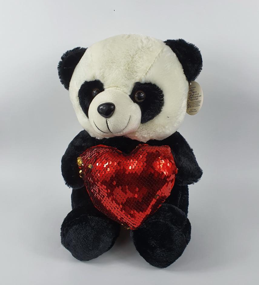 Панда с сердцем 30 см (музыка)