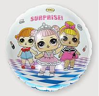 Шар фольгированный круглый Куклы Лол пати (Китай)