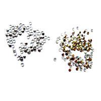 Золотые и серебряные стразы 2мм для маникюра и декора ZOTOONE, 1000 шт