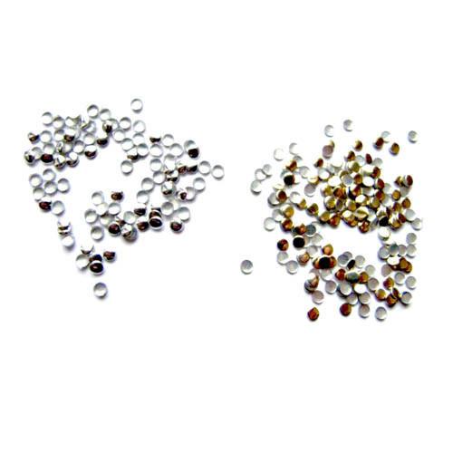 Золоті і срібні стрази 2мм для манікюру і декору ZOTOONE, ~ 1000 шт