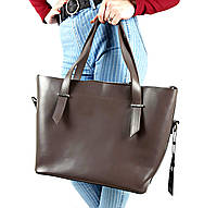Женская большая сумка из натуральной плотной кожи (Италии)