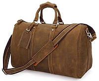 Сумка дорожная Vintage 14050 из винтажной кожи Коричневая, Коричневый