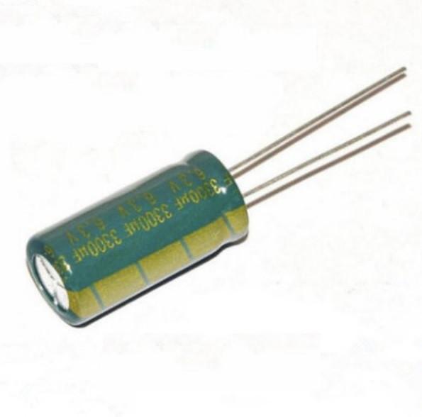 10x Конденсатор электролитический алюминиевый 3300мкФ 6.3В 105С (04307)