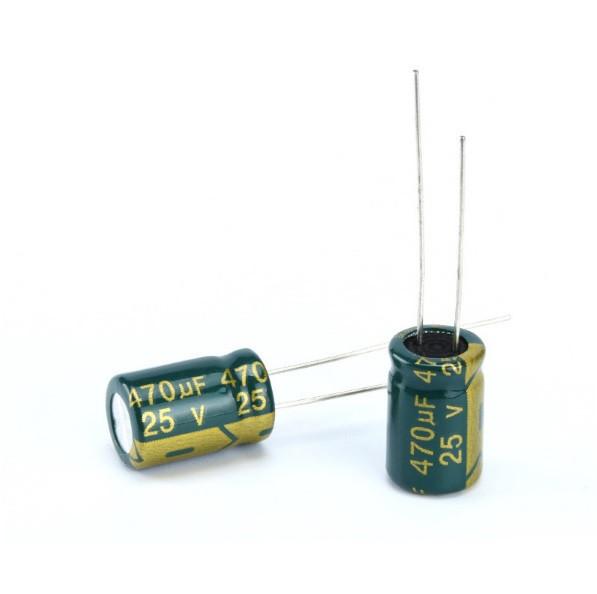 10x Конденсатор электролитический алюминиевый 470мкФ 25В 105С (04330)