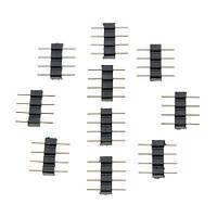 10x Коннектор для светодиодной RGB ленты 4pin (02576)