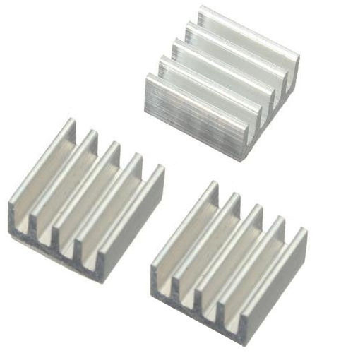 Радиатор алюминиевый 9х9х5мм для Raspberry PI набор, 10 шт