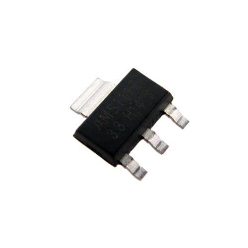 Чип AMS1117-3.3 AMS1117 SOT223, Стабилизатор напряжения 3.3В 1А, 10 шт
