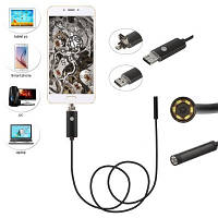 10м USB / MicroUSB камера, 5.5мм, бороскоп, эндоскоп Android (03764)