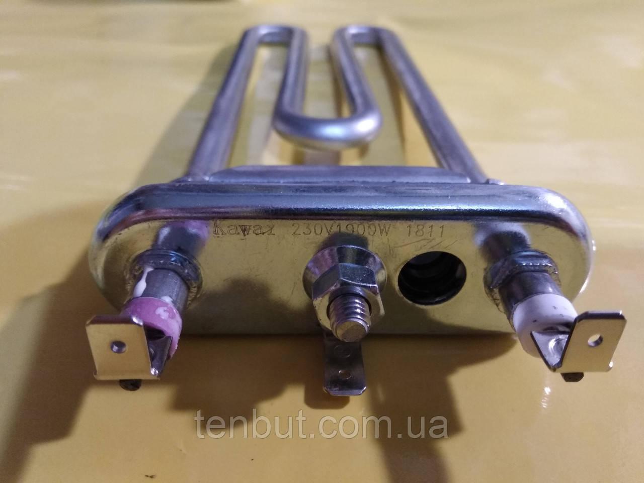Тэн на стиральную машинку 1950 Вт. / 243 мм. с местом под датчик производство KAWAI Китай оригинал