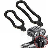 2x Монтажное резиновое кольцо для фонаря, фары велосипеда (03929)