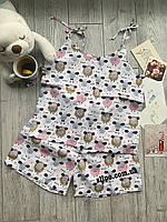 """Піжама, одяг для дому та сну """"Овечки""""   Пижама Натуральная """"Овечки"""", одежда для дома и сна S M L XL"""