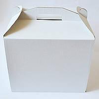 Коробка для торта 25х25х18,5 см. (белая)