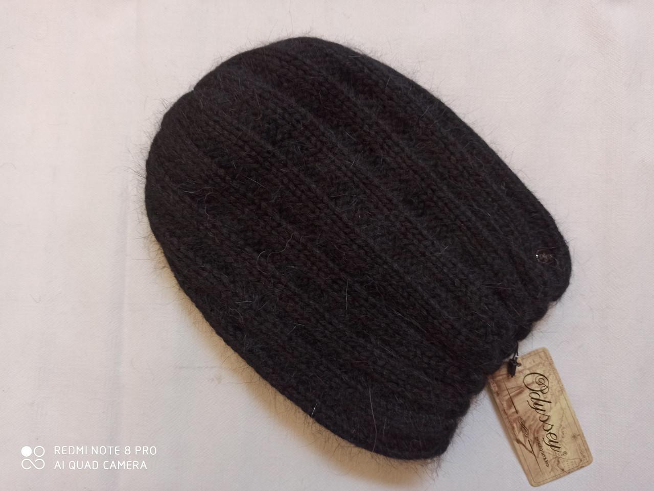 Шапка из ангоры Нонна ODYSSEY 43808 чёрный