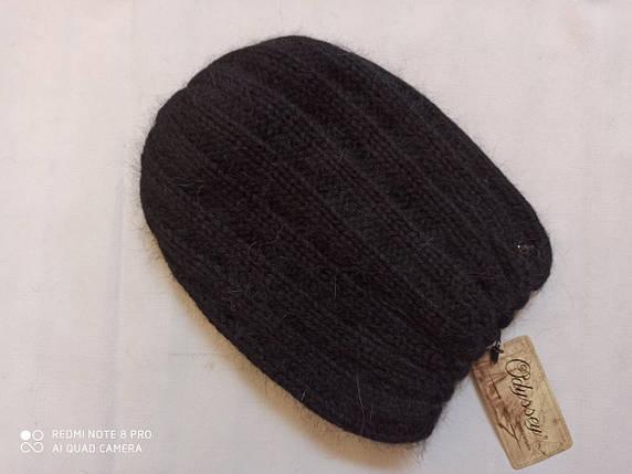 Шапка из ангоры Нонна ODYSSEY 43808 чёрный, фото 2