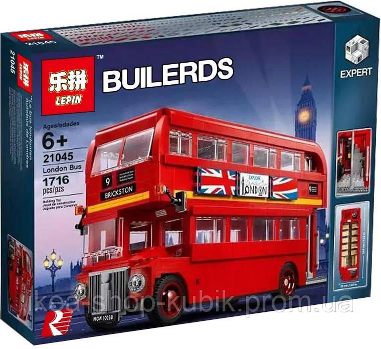 Конструктор ЛЕПІН 21045 Лондонський Автобус(аналог Lego Creator Expert 10258), 1716 дет.
