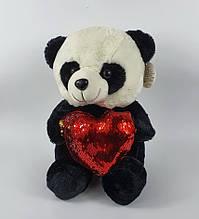 Панда с сердцем 35 см (музыка)