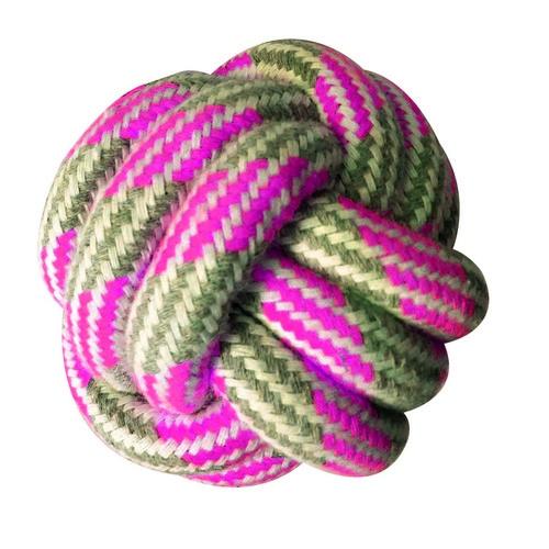 Игрушка для собак CROCI PASTEL Мяч, канат хлопковый, розовый, 7,5см