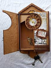 Ключниця Вінтаж з годинником, фото 2