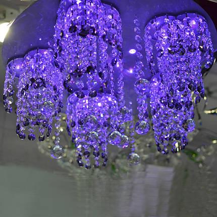 Люстра хрустальная, 5 ламп, серебро, фото 2