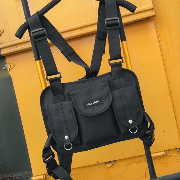 Бронежилет HGUL+BAG нагрудная сумка 0001 черная