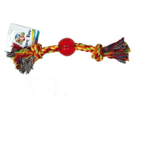 Игрушка для собак CROCI канат грейфер с мячиком, 30,5см,