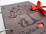 Весільний дерев'яна яний альбом для побажань та фото, фото 2