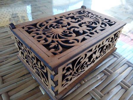 Скринька ажурна маленька, фото 2