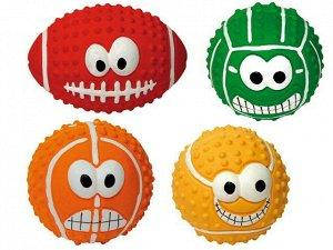 Игрушка для собак CROCI Мячи с улыбкой ассорти, латекс, 4 вида, 7,5см