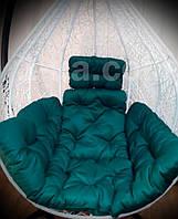 Зеленая подушка для подвесного кресла кокон, подушка для подвесной качели.