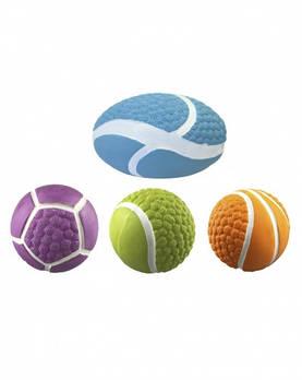 Игрушка для собак CROCI Спорт мячи, латекс, пищалка, 7,5-10см