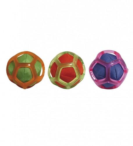 Игрушка для собак CROCI Тканевый мяч в силиконовой сетке,  8см
