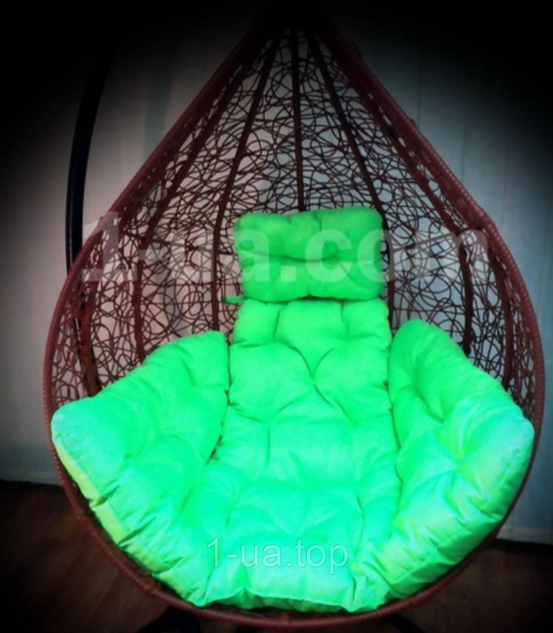Салатневая подушка для подвесного кресла кокон, подушка для подвесной качели.
