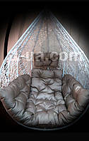 Серая подушка для подвесного кресла кокон, подушка для подвесной качели.