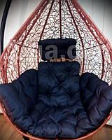 Черная подушка для подвесного кресла кокон, подушка для подвесной качели.