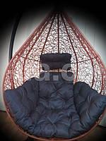 Коричневая подушка для подвесного кресла кокон, подушка для подвесной качели.