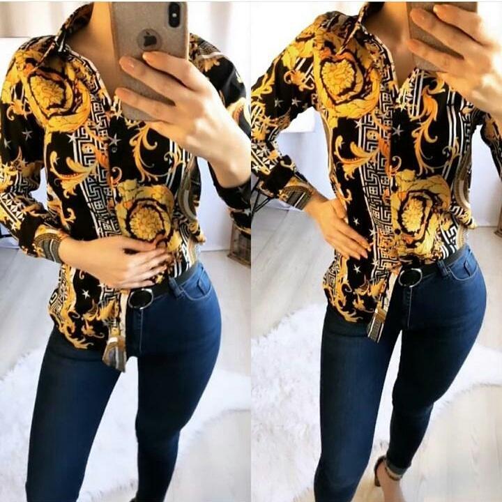 Блуза с принтом VERSACE