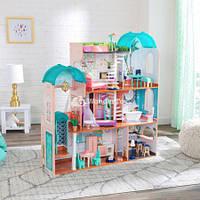 Дом для кукол барби.Кукольный домик.КидКрафт 65986 Кукольный дом Резиденция Камила LED.Большой кукольный домик