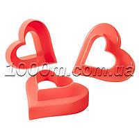 Формочки для печенья пластиковые «Сердце» 6 в 3
